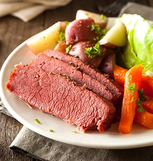 St. Patrick's Day Corned Beef and Cabbage Meal