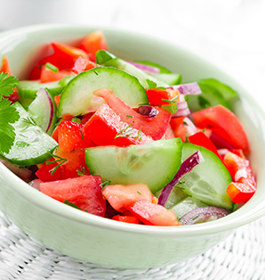 snack recipe cucumbers onions tomatoes